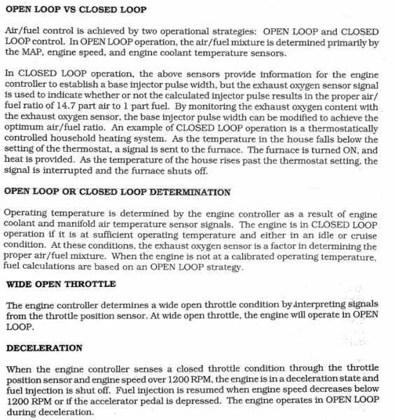 open vs closed loop? - MJ Tech: Modification and Repairs