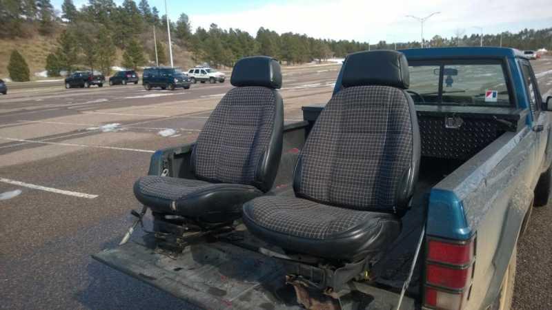 Fs Co 150 Black Cloth Bucket Seats For Sale Comanche Club Forums