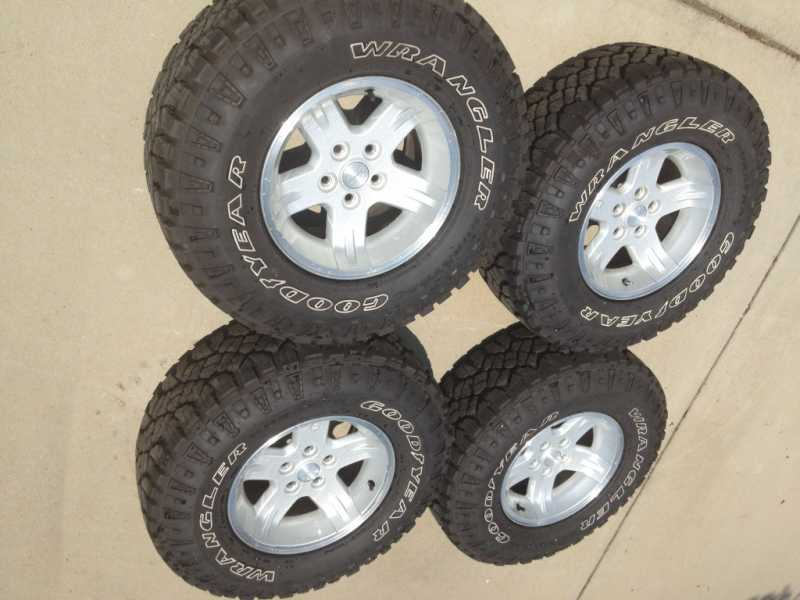 40x4040x40 Goodyear Duratracs On Jeep Ravine Wheels NC For Sale Custom Jeep Wrangler Wheel Bolt Pattern