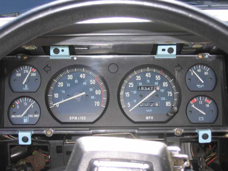 Gauge cluster swap problems - MJ Tech: Modification and