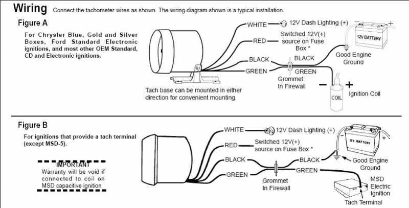 Aftermarket Tach Wiring | Wiring Diagram on
